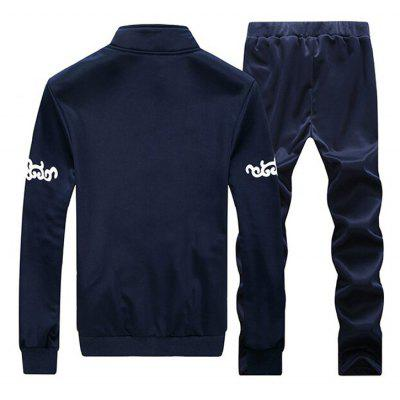 The MenS Leisure Sports Sweatshirt Two PiecesMens Hoodies &amp; Sweatshirts<br>The MenS Leisure Sports Sweatshirt Two Pieces<br><br>Material: Cotton, Cotton Blends<br>Package Contents: 1xCoat?1xPants<br>Shirt Length: Regular<br>Sleeve Length: Full<br>Style: Active<br>Weight: 0.4200kg