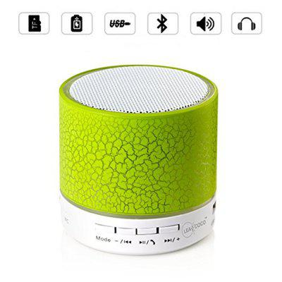 Mini alto-falante portátil sem fio bluetooth com LED e build-in mic apoio aux tf para iphone ipod e sistema android