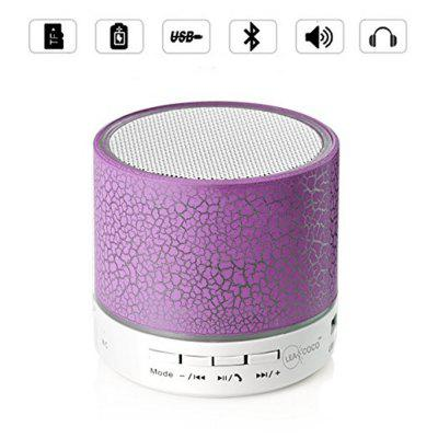 Mini altavoz Bluetooth inalámbrico portátil con LED y micrófono incorporado AUX TF para iPhone iPod y sistema Android