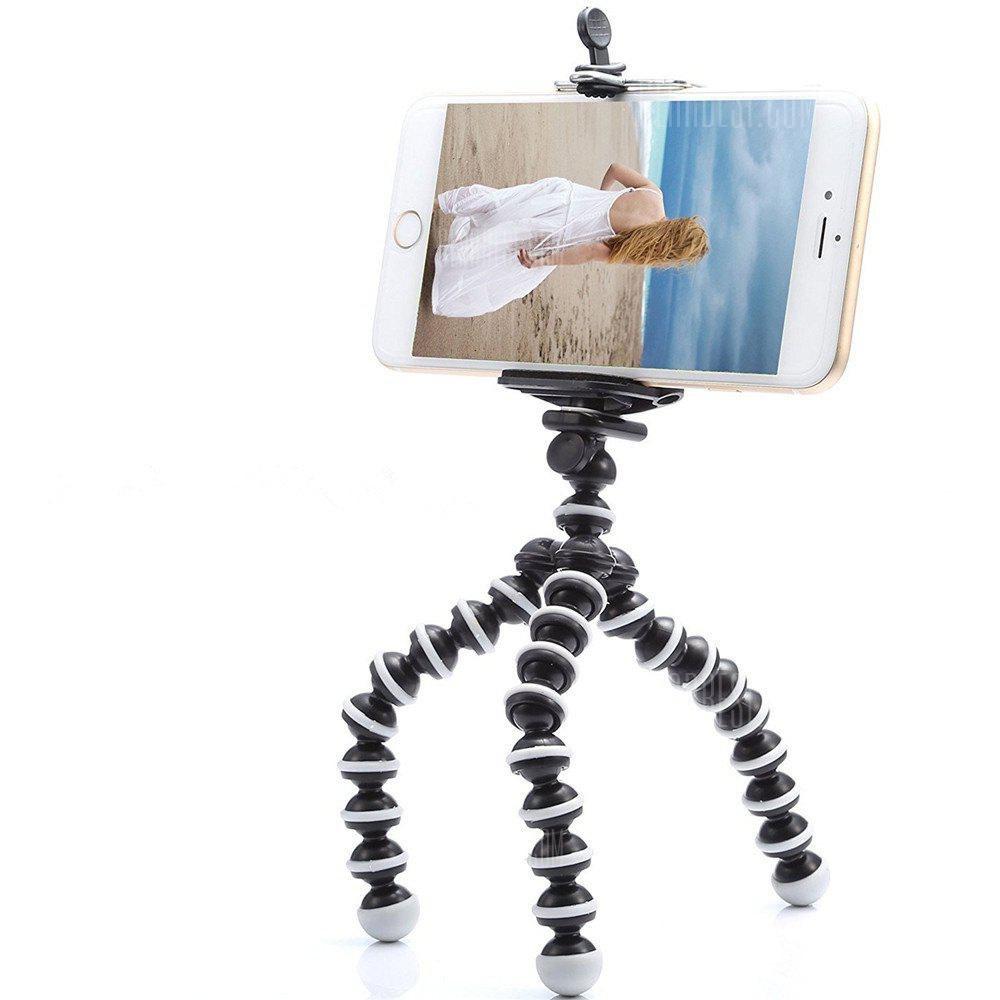 Liten, lys Universal Tripod Mount Phone Holder for Smart Phones - BLACK
