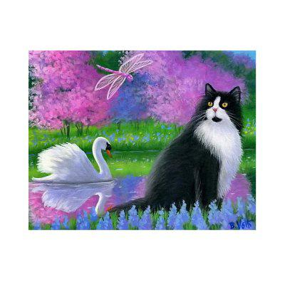 Swans And Cats Stampa Disegna Disegni Diamanti