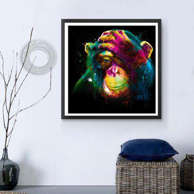 Colored Orangutans Print Draw Diamond PaintingsPrints<br>Colored Orangutans Print Draw Diamond Paintings<br><br>Craft: Print<br>Form: One Panel<br>Material: Canvas<br>Package Contents: 1 x Diamond  Painting<br>Package size (L x W x H): 30.00 x 10.00 x 2.00 cm / 11.81 x 3.94 x 0.79 inches<br>Package weight: 0.0700 kg<br>Painting: Without Inner Frame<br>Product weight: 0.0640 kg<br>Shape: Square<br>Style: Oil Painting<br>Subjects: Others<br>Suitable Space: Living Room,Bedroom