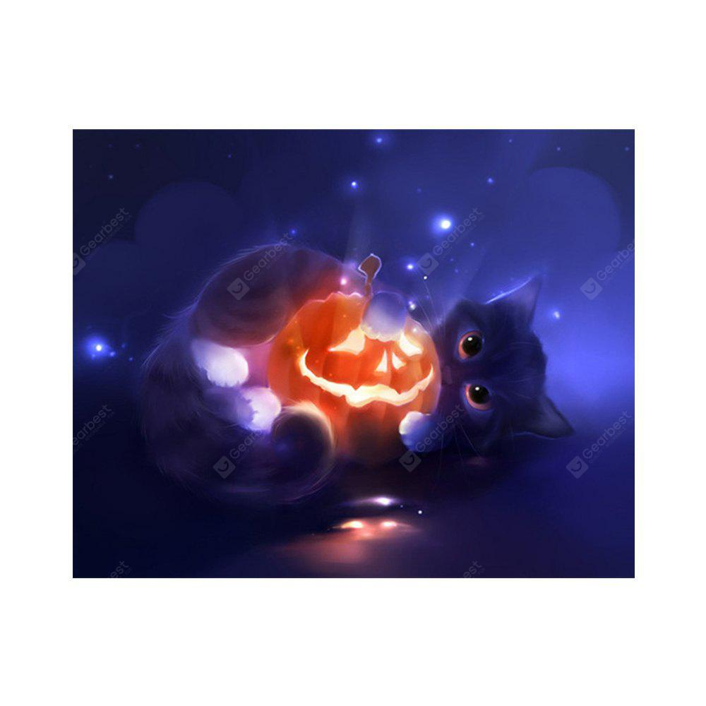 Halloween Pumpkin Black Cat Stampa Disegna disegni di diamanti