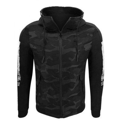 Men'S Autumn and Winter Jacket Windproof Comfortable Camouflage Hooded Printing Fashion Casual Street Jacket