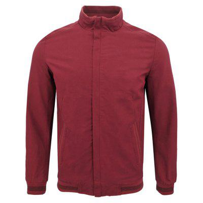Men'S Winter Cropped Collar Business Casual Solid Color Jacket