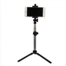 Extendable Monopod with Tripod Stand Bluetooth Selfie Stick for iPhone and Android