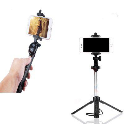 Extendable Monopod with Tripod Stand Bluetooth Selfie Stick for iPhone and  AndroidStands &amp; Holders<br>Extendable Monopod with Tripod Stand Bluetooth Selfie Stick for iPhone and  Android<br><br>Accessories type: Selfie Stick<br>Bluetooth Version: Bluetooth4.0<br>Compatible System Version: IOS, Android 4.0<br>Features: with Bluetooth, Selfie Stick, With Cable<br>Material: Stainless Steel<br>Package Contents: 1 x Selfie stick  1 x Bluetooth Self Timer<br>Package size: 19.50 x 4.60 x 4.40 cm / 7.68 x 1.81 x 1.73 inches<br>Package weight: 0.1520 kg