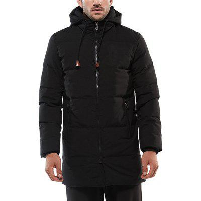 Winter Long Men Down Jacket Thickening