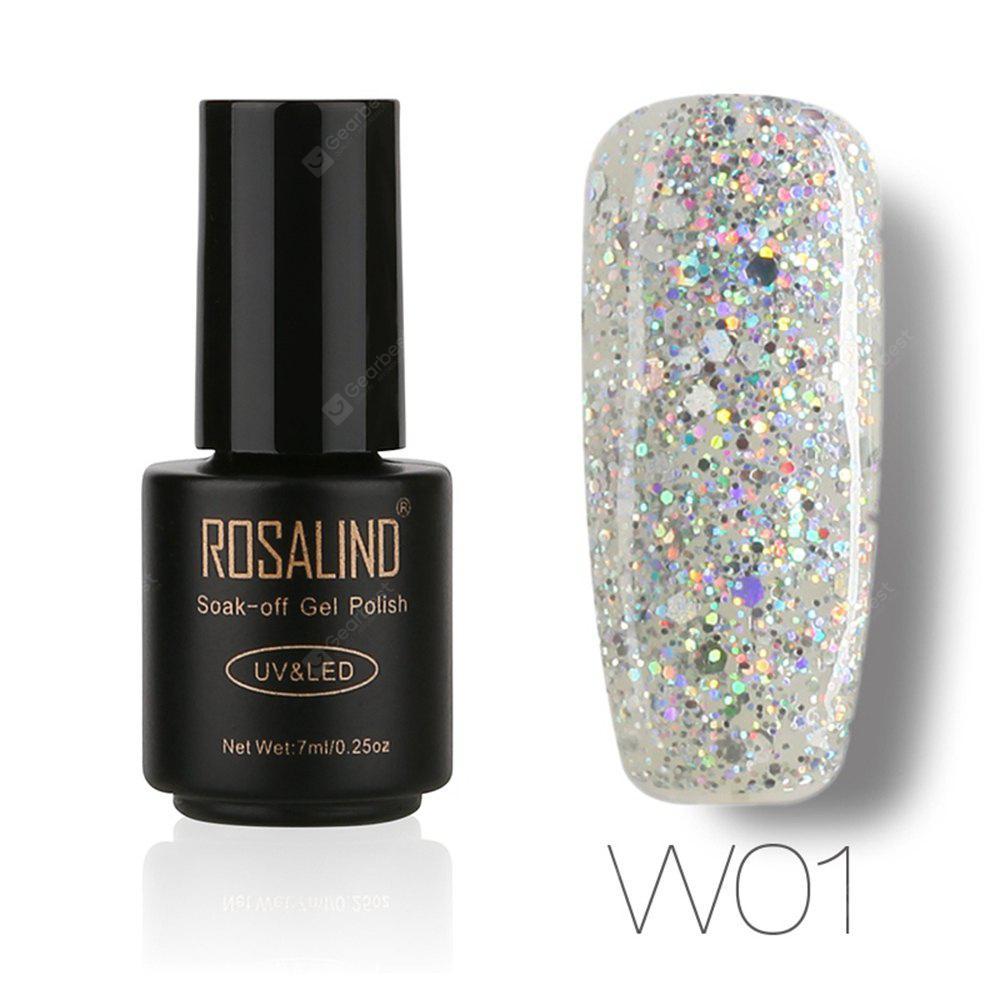 ROSALIND Black Bottle 7ML Diamond Glitter W01-29 Gel Nail Polish ...