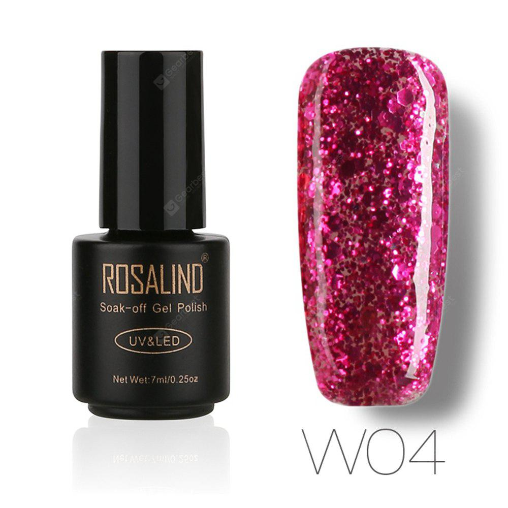 Buy ROSALIND Black Bottle 7ML Diamond Glitter W01-29 Gel Nail Polish Art UV LED Soak-Off Platin 04
