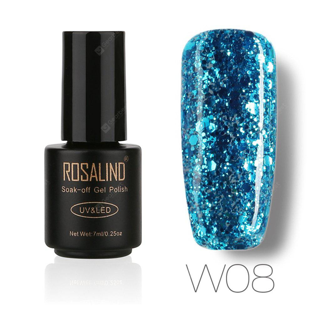 Buy ROSALIND Black Bottle 7ML Diamond Glitter W01-29 Gel Nail Polish Art UV LED Soak-Off Platin 08