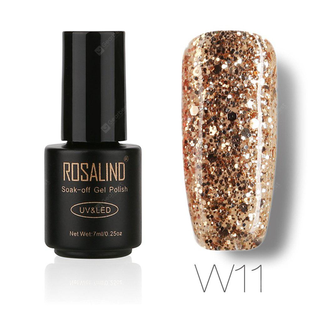 Buy ROSALIND Black Bottle 7ML Diamond Glitter W01-29 Gel Nail Polish Art UV LED Soak-Off Platin 11