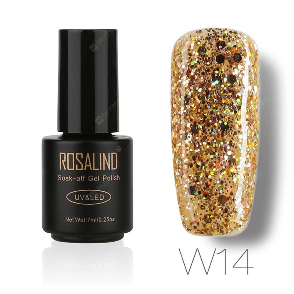 Buy ROSALIND Black Bottle 7ML Diamond Glitter W01-29 Gel Nail Polish Art UV LED Soak-Off Platin 14