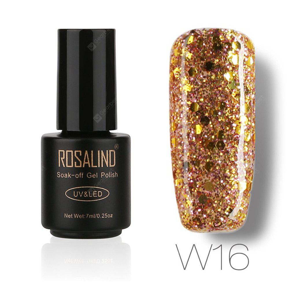 Buy ROSALIND Black Bottle 7ML Diamond Glitter W01-29 Gel Nail Polish Art UV LED Soak-Off Platin 16