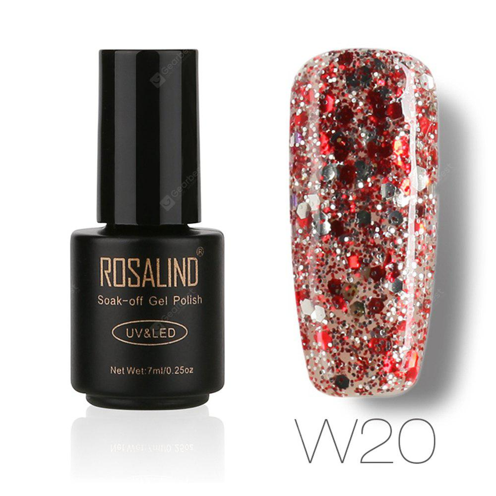 Buy ROSALIND Black Bottle 7ML Diamond Glitter W01-29 Gel Nail Polish Art UV LED Soak-Off Platin 20