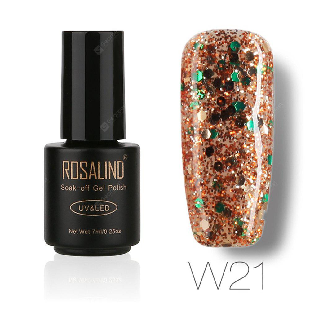 Buy ROSALIND Black Bottle 7ML Diamond Glitter W01-29 Gel Nail Polish Art UV LED Soak-Off Platin 21