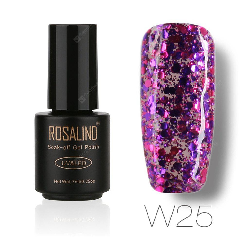 Buy ROSALIND Black Bottle 7ML Diamond Glitter W01-29 Gel Nail Polish Art UV LED Soak-Off Platin 25
