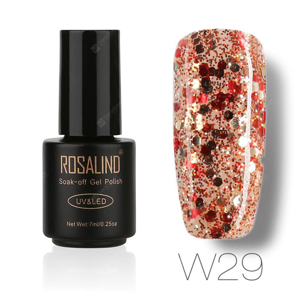 Buy ROSALIND Black Bottle 7ML Diamond Glitter W01-29 Gel Nail Polish Art UV LED Soak-Off Platin 29