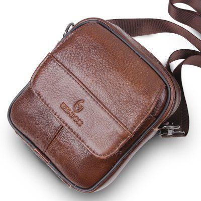 Genuine Leather Bags Messenger Bag for MenCrossbody Bags<br>Genuine Leather Bags Messenger Bag for Men<br><br>Closure Type: Zipper<br>Gender: For Men<br>Handbag Type: Crossbody bag<br>Hardness: Soft<br>Main Material: Genuine Leather<br>Occasion: Versatile<br>Package Contents: 1 x bag<br>Package size (L x W x H): 17.00 x 15.00 x 8.00 cm / 6.69 x 5.91 x 3.15 inches<br>Package weight: 0.2778 kg<br>Pattern Type: Solid<br>Product weight: 0.2600 kg<br>Style: Vintage