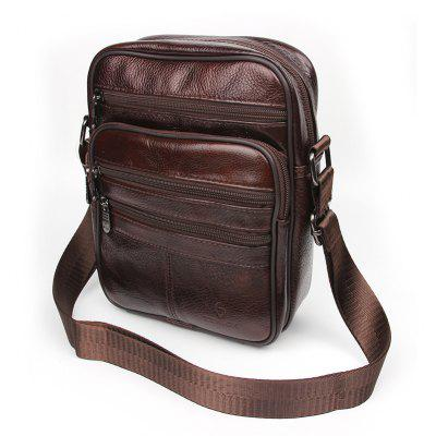 Genuine Leather Bags Messenger Bag Men Leather Handbags Elunico Fashion Casual Business Leather Mens Handbag