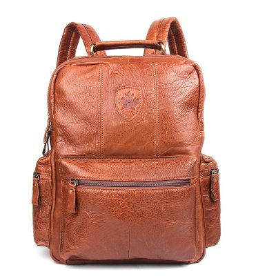 Unisex Genuine Leather Laptop Backpack Women School Bags Mochila Feminina Travel Backpacks Mochilas Leather Bag for Men