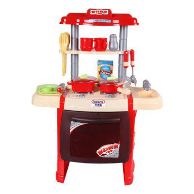 Plays A Family Role Playing Kitchen Toy Simulation Kitchen Utensils