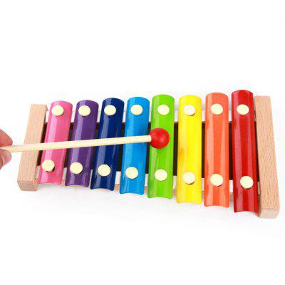 MoTrent Wooden 8 Notes Xylophone  First Musical Instrument for Children, Portable Music Toys for Kids Baby
