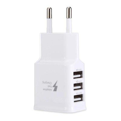 2A 3 USB Ports Travel Charger Adapter EU Plug