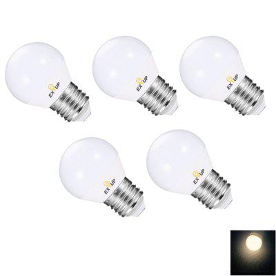 Buy WARM WHITE EXUP G45 7W E27 680LM Dimmer LED Bulb 180 265V 5PCS for $21.79 in GearBest store