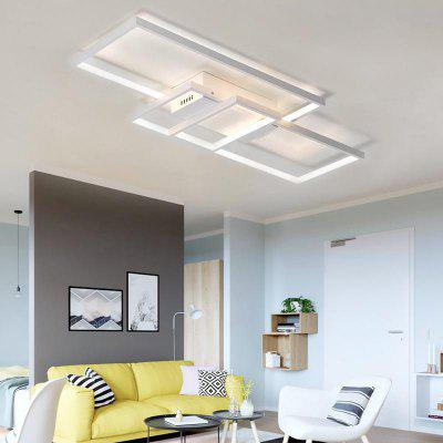 Modern Nature White LED Flush Mount Ceiling Light Square Combination Shape for Office Meeting Room  Living Bedrooms