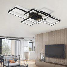 25 Off Modern Black Led Flush Mount Ceiling Light Square Combination Shape For Office Meeting Room Living Dining