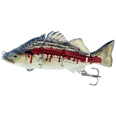ABS Material 4 Section Swimbait Hard Multi Jointed Fishing Lure Bait for Bass Trout Fishing
