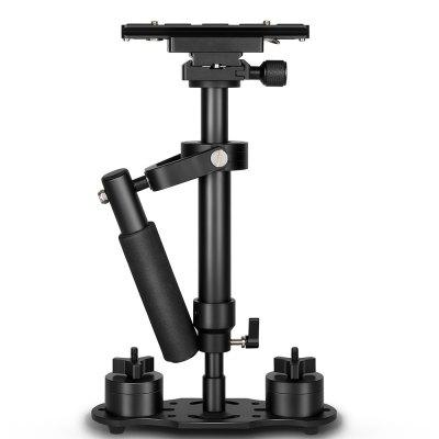 S40 Professional 40cm Aluminum Alloy Handheld Stabilizer with Quick Release Plate and Clamp Base for Canon / Nikon / Sony / DS