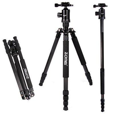 Carbon Tripod Zomei Z888C Professional Camera Tripod Travel Portable Monopod with Ball Head for Canon Nikon Sony Camera