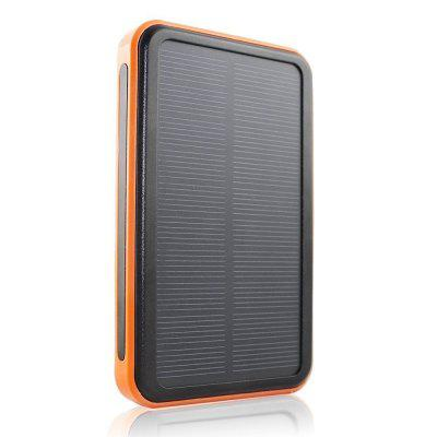 10000mAh Solar Charger Waterproof Portable Solar Power Bank Dual USB Charger Built in LED Flashlight for  Phone