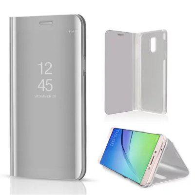 Mirror Flip Leather Clear View Window Smart Cover for Samsung Galaxy C8 Case
