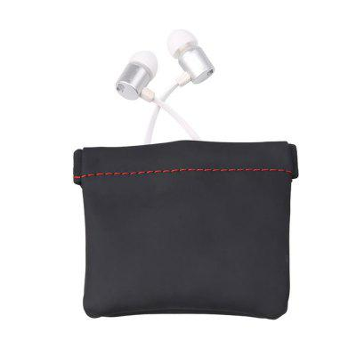 High Quality Earphone Bag PU Leather Case Carrying Pouch Store Package Accessories