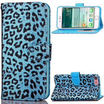 Funda de Cartera Pegable de Cuero PU Estampado de Leopardo Lujo para iPhone 7/8