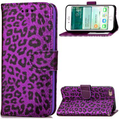 Funda de Cartera Pegable de Cuero PU Estampado de Leopardo Lujo para iPhone 6 Plus / 6s Plus