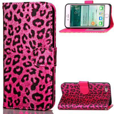Funda de Cartera Pegable de Cuero PU Estampado de Leopardo Lujo para iPhone 6 / 6s