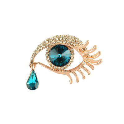 Angel's Spilla a goccia per le donne Vintage Evil Eye Angle Tear Wedding Scarf Pin Up Buckle Femminile