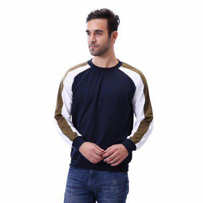 MenS Fashion Stitching SweatshirtsMens Hoodies &amp; Sweatshirts<br>MenS Fashion Stitching Sweatshirts<br><br>Fabric Type: Broadcloth<br>Material: Cotton, Polyester<br>Package Contents: 1 x Sweatshirt<br>Shirt Length: Regular<br>Sleeve Length: Full<br>Style: Active<br>Weight: 0.4100kg