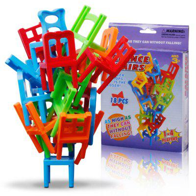 Balance Chairs Board Game Children Educational Toy Balance Toy Puzzle Board Game Environmental Protection ABS Plastic
