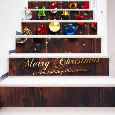 DSU Bells Candy Ball Buon Natale Quotes Scale Sticker Wall Decor LTT084