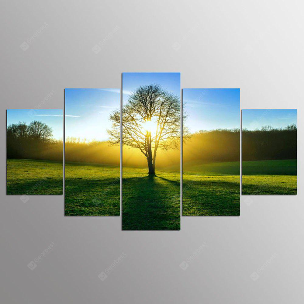 YSDAFEN 5 pezzi Wall Art Morning Sunshine HD Picture Home Decoration Stampa su tela