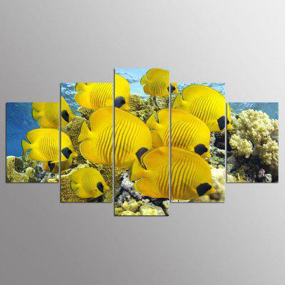 YSDAFEN 5 Pcs Canvas Art Flowe Picture Wall Art Living Room Decor Stampa