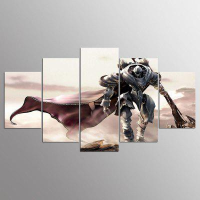 YSDAFEN Printed Samurai Game Characters 5 Piece Painting Wall Art ...