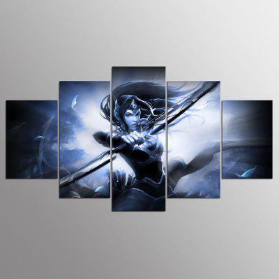 YSDAFEN Stampato Mirana Dota 5 pezzi Picture Painting Wall Art Room Decor