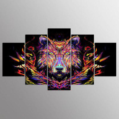 YSDAFEN 5 Panel Wolf Paintings Wall Art per Living Room Modern Home Decor