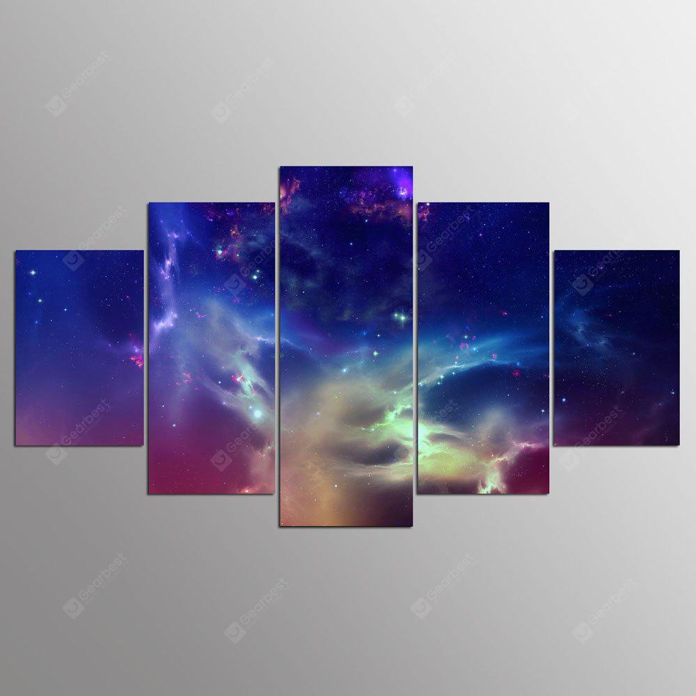 YSDAFEN 5 Panels Sky Painting No Stretched Immagine modulare per la decorazione domestica